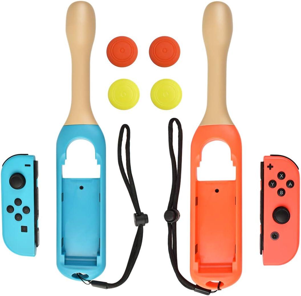 Powtree - Juego de 2 Baquetas para Mando de Nintendo Switch Joy-con compatibles con Nintendo Switch Games Taiko Drum Master Accesorios, Color Rojo y Azul: Amazon.es: Electrónica