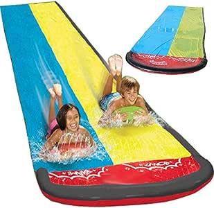 househome Tobogán De Agua para Niños Juguetes De Juego Al Aire Libre Juego De Tabla De Surf De Cama Doble De Spray De Agua De Hierba: Amazon.es: Hogar