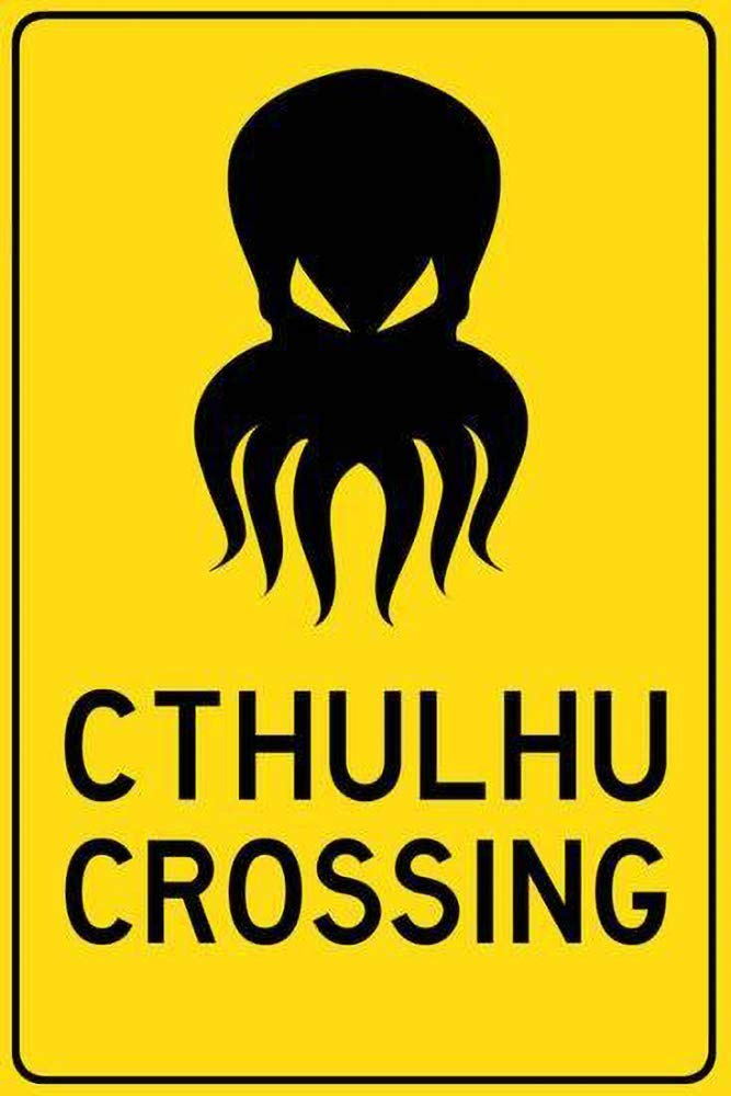 HALEY GAINES Cthulhu Crossing Placa Cartel Póster de Pared ...