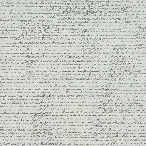 Canvas Tissuestock Printed French Script, 12-Inch by 12-Inch, Ivory, 10-Pack [並行輸入品]   B07T9SR9J5