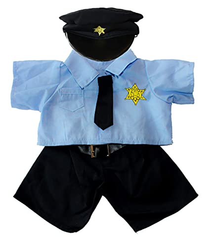 b485cc56227 Image Unavailable. Image not available for. Color  Policeman Uniform Outfit  Teddy Bear Clothes Fits ...