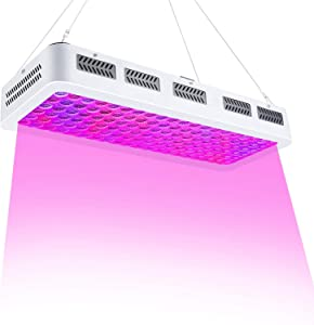 LED Grow Light, LUOAPP 1200W Plant Light with Full Spectrum, Dual Switch, Dual Chips, Spotlight Reflector and Daisy Chain Designed for Hydroponic Indoor Plants Veg and Flower (10W LEDs 120pcs)