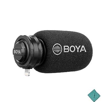 BOYA BY-WFM12 VHF Receptor de micrófono inalámbrico con micrófono ...