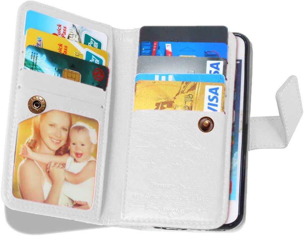 iPhone 5S Case Blue iPhone 5 Case Weline Wallet PU Leather Skin Protective Magnetic Folio Flip Cover Credit Card Slots Cash Holder Cover with Built-in 9 Card//ID Slots for Apple iPhone 5//5S//SE
