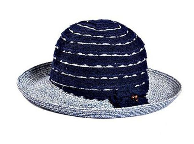 Leisial Sombrero de Paja Mujer Topper Sombrero Gorro de Playa Protector  Solar Gorro de Sol para Señoras Azul oscuro  Amazon.es  Ropa y accesorios 19c566495c5