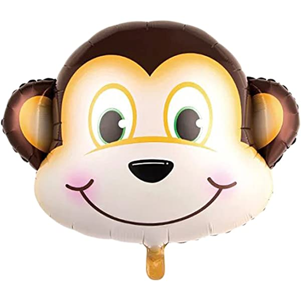 Monkey With Flower 39 Inch Supershape Foil Balloon