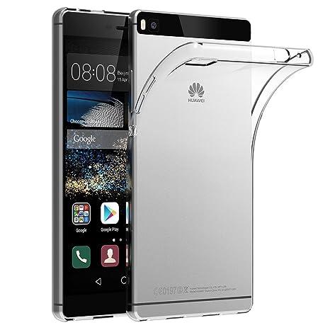 AICEK Funda Huawei P8, Huawei P8 Funda Transparente Gel Silicona Huawei P8 Premium Carcasa para Huawei P8