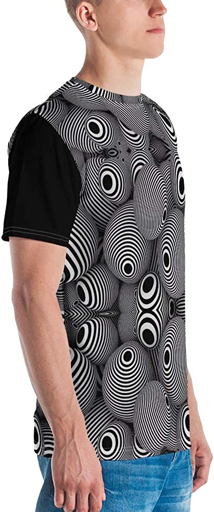 Op Art T-Shirt Gen X Trippy Optical Illusion Vintage 60s 70s Psychedelic All Over Printing Tee Shirt