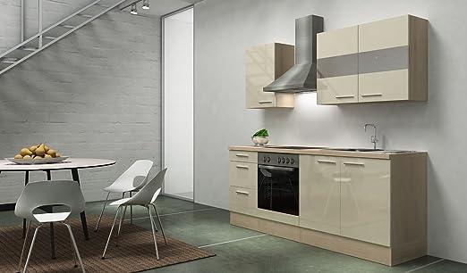 respekta Premium Cocina 210 cm Acacia Vainilla Brillante ...