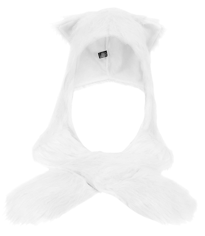 Winter Warm Plush Faux Fur Animal Paws Hat Hoods Gloves Scarf Bear Simplicity MC171014300104-CA