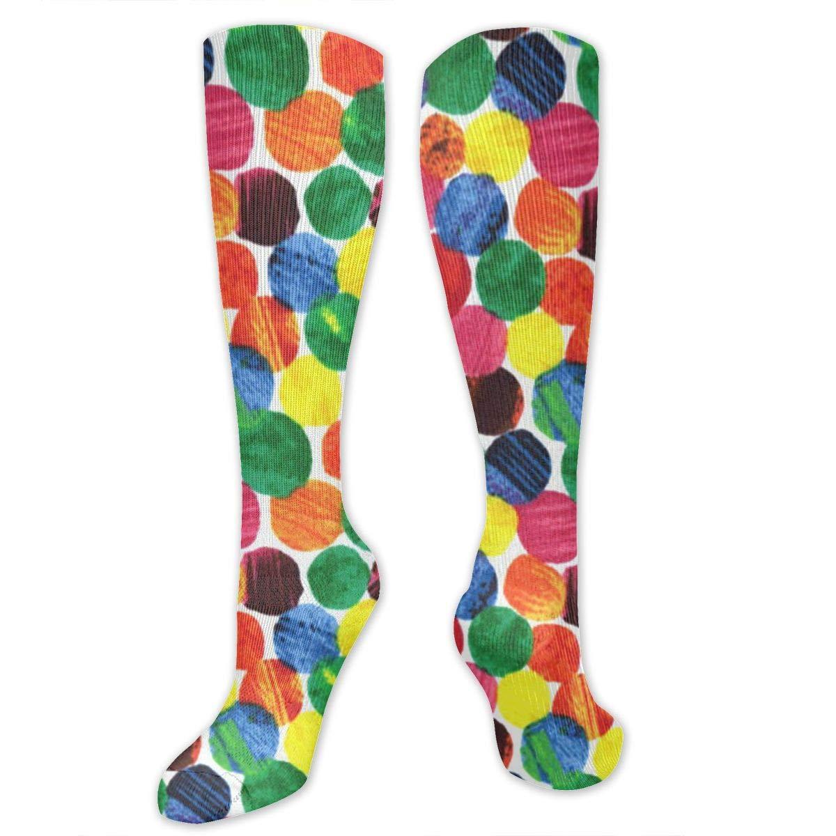 Willbegood99 The Very Hungry Caterpillar Abstract Dots Mens Fun Dress Socks Colorful Pattened Novelty Mid-Calf Crew Socks Premium Cotton Vibrant Art Socks