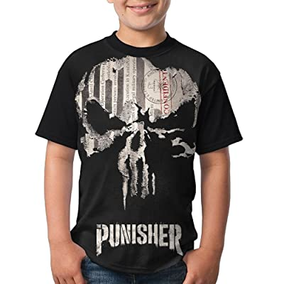 Boys T Shirt The Confident-Punisher Fashion Black Tee