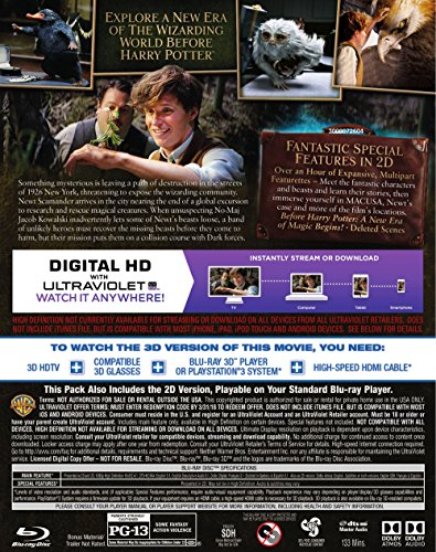 fantastic beasts and where to find them 3d blu ray dvd import it all. Black Bedroom Furniture Sets. Home Design Ideas