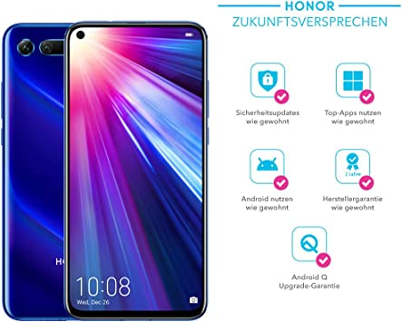 Honor View20 Cámara 3D de 48 MP – Smartphone Bundle (6,4 Pulgadas ...