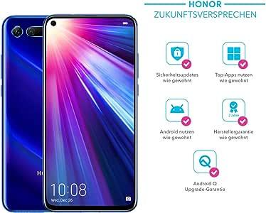 Honor View20 Cámara 3D de 48 MP – Smartphone Bundle (6,4 Pulgadas, batería de 4000 mAh, Dual SIM, Android 9.0) + Funda Protectora Honor [Exclusiva en Amazon] – versión Alemana: Amazon.es: Electrónica