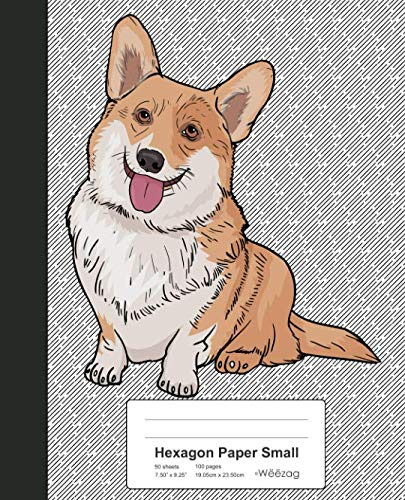 Hexagon Paper Small: Book Pembroke Welsh Corgi Dog (Weezag Hexagon Paper Small Notebook) ()