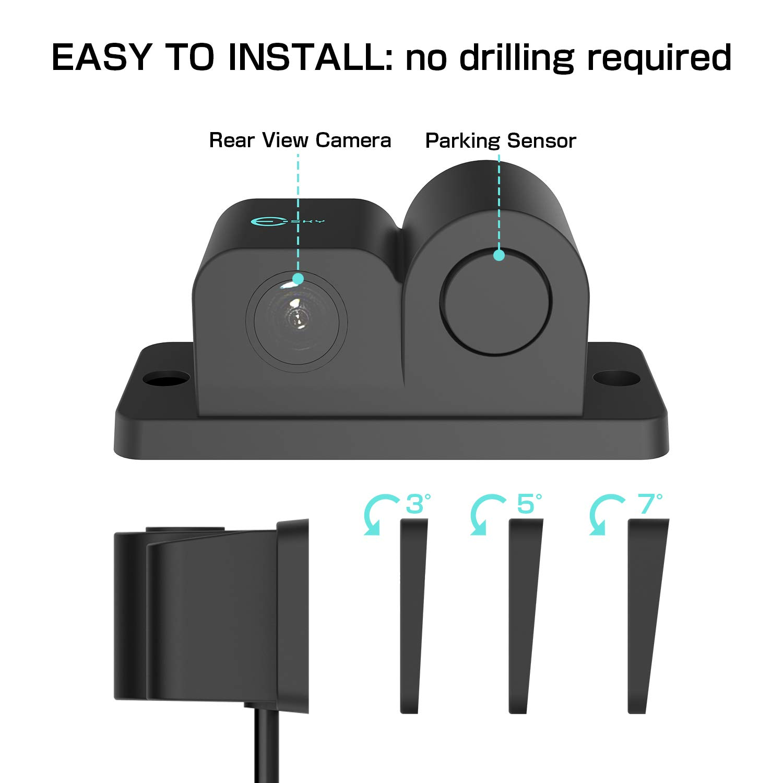 Amazon.com: Esky 170 Degree Viewing Angle HD Waterproof Car Rear View Camera  with Radar Parking Sensor: Car Electronics