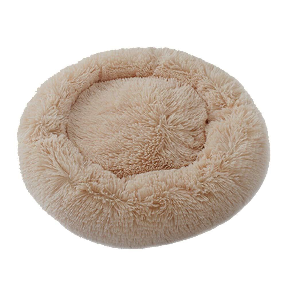 Cuccia in Peluche per Cani e Gatti calmante e Confortevole a Ciambella in Finta Pelliccia Cutito