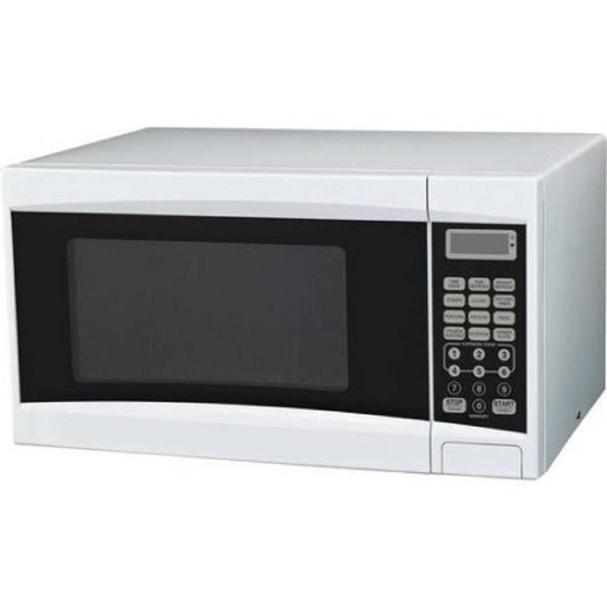 0.7-Cubic Foot White Touch Pad Control Convenience Cooking Controls Child Lock Cooking Complete Reminder Microwave Oven