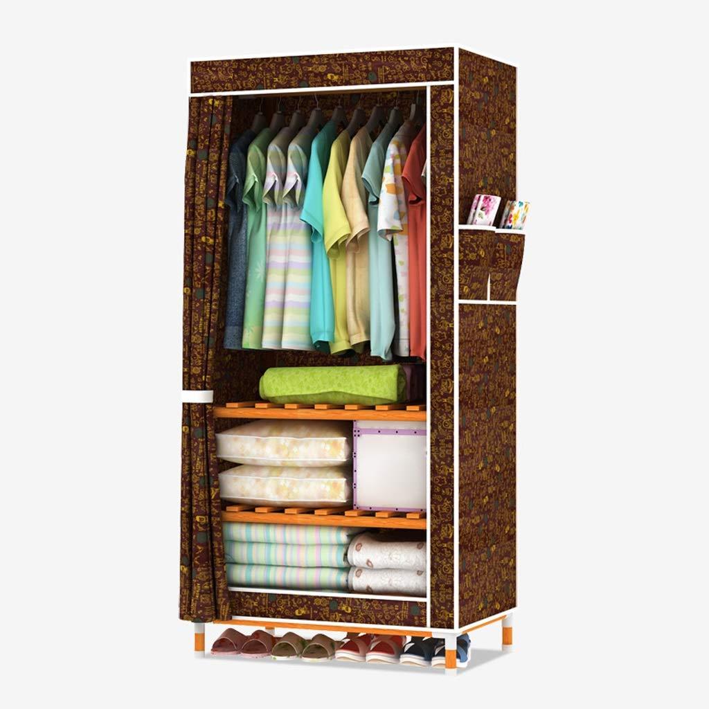 Hai Yan Boutique Cloth Wardrobe Cloth Wardrobe Student Single Combination Wardrobe Moisture Storage Clothes Oxford Fabric Cabinet (Color : D, Edition : Width80) by Hai Yan