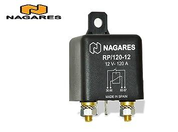 nagares rp 120 12 relay main current amazon co uk car motorbike rh amazon co uk 5 Pole Relay Wiring Diagram Starter Relay Wiring Diagram