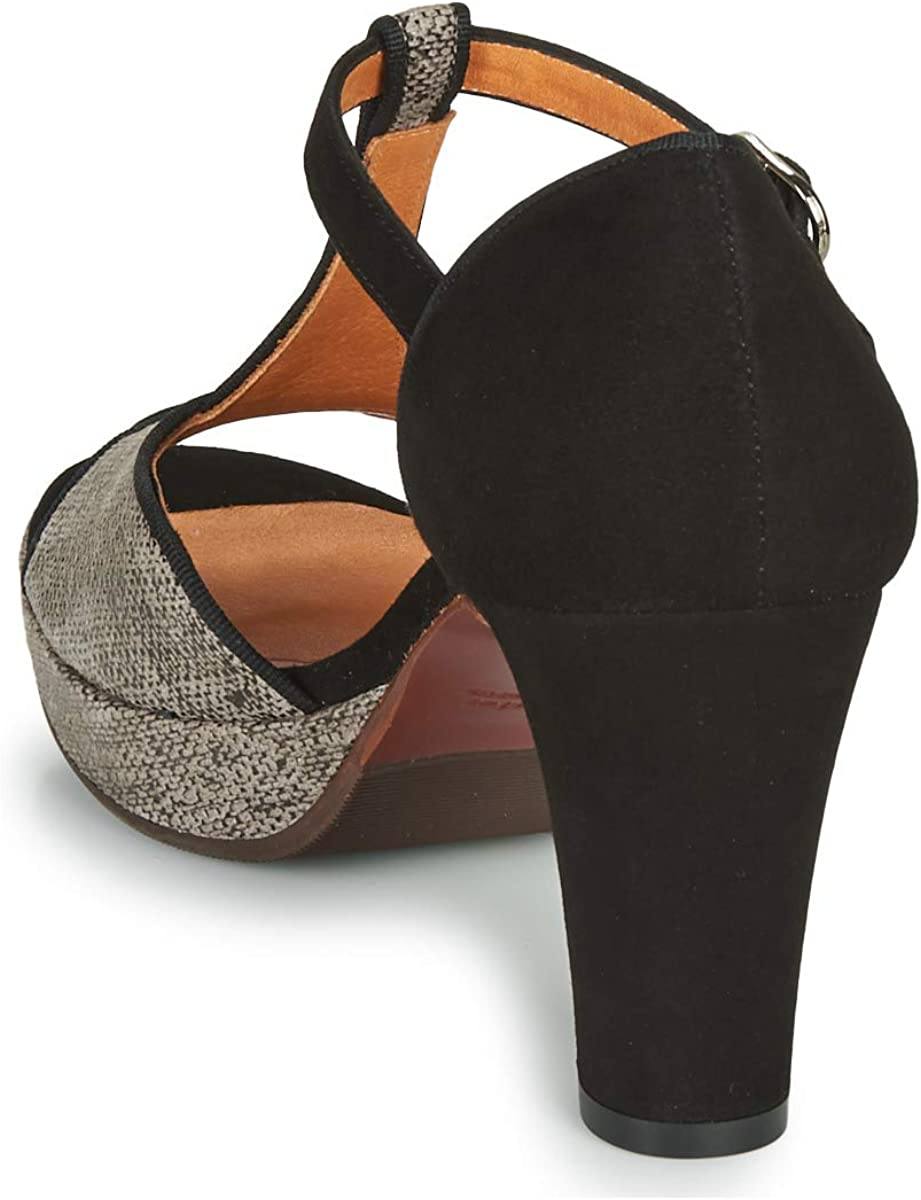 Chie Mihara EMUS Sandales pour femme Noir/gris Noir Gris