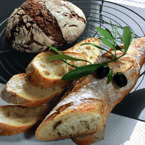 Lot de 20 serviettes en papier motif fresh bread-pain//repas//petits-d/éjeuners brunch//33 x 33 cm