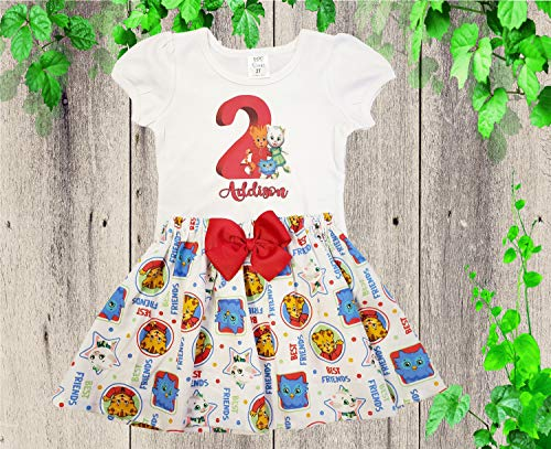 Daniel the Tiger birthday outfit Girl Daniel Margaret birthday dress ()
