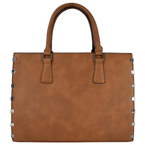 a921a778 CRAZYCHIC - Bolso de Mano Grande Mujer - Tote Shopper Gran Capacidad Señora  - Maletín Trabajo
