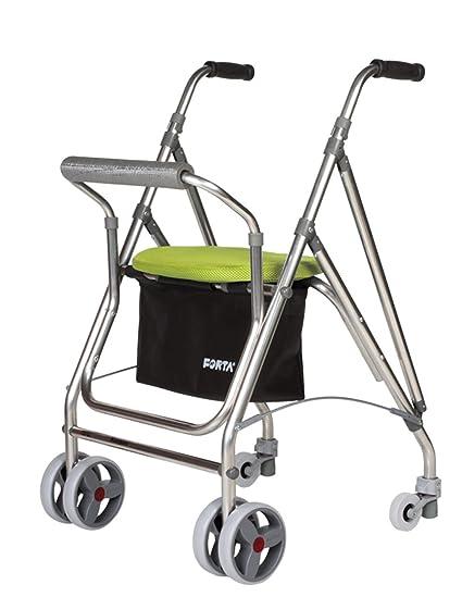 Forta fabricaciones - Andador de 4 ruedas para ancianos Kanguro FORTA - Kanguro, Verde