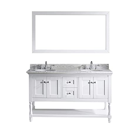 Virtu md-3160-wmro-wh Julianna doble armario de mueble de baño Set