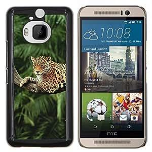 """Be-Star Único Patrón Plástico Duro Fundas Cover Cubre Hard Case Cover Para HTC One M9+ / M9 Plus (Not M9) ( Leopard Árbol Selva Selva árboles del gato grande"""" )"""