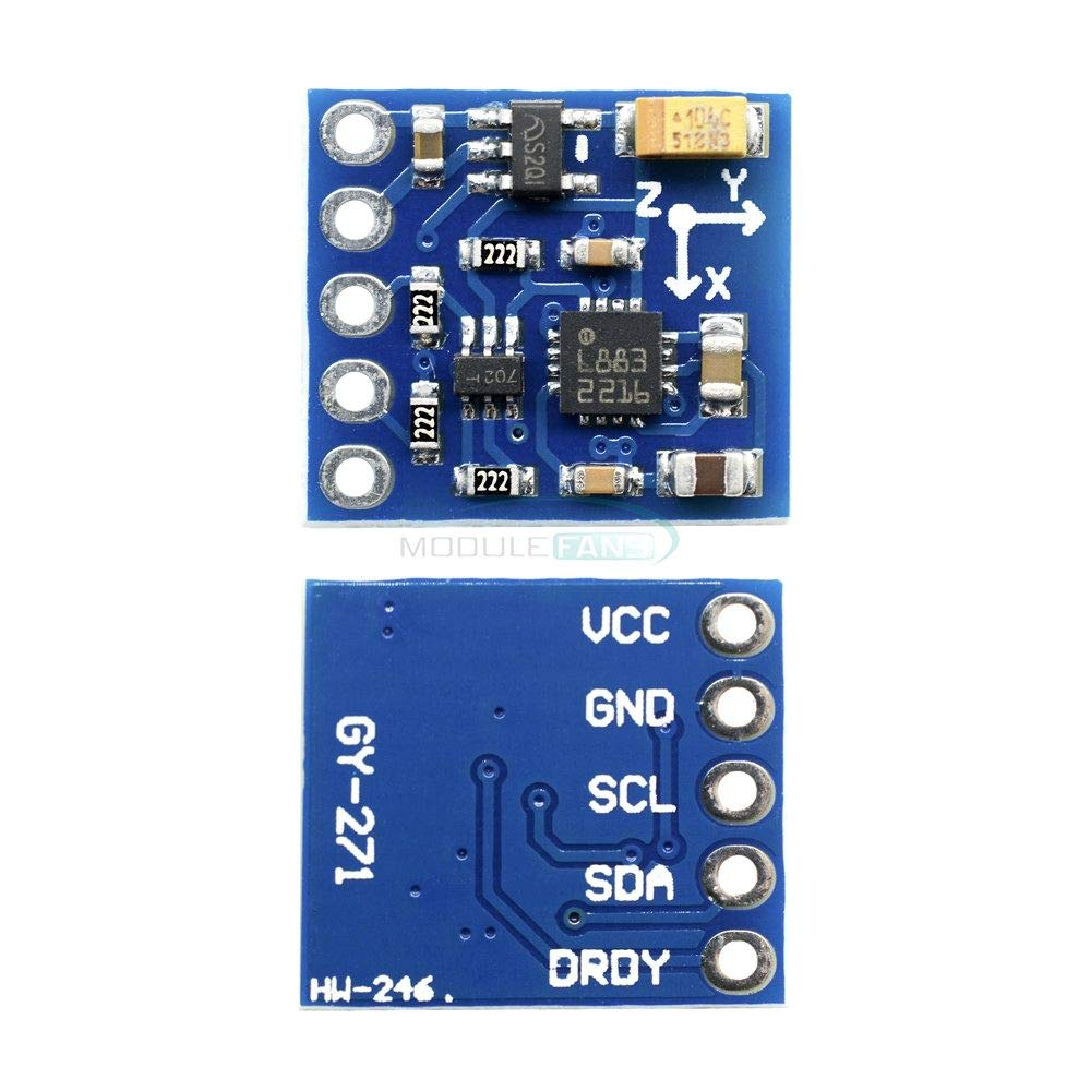 HMC5883 GY-271 3V-5V Triple Axis Tri-axis 3 Axis Compass Magnetometer Sensor Module Board HMC5883L for Arduino Imported Chips