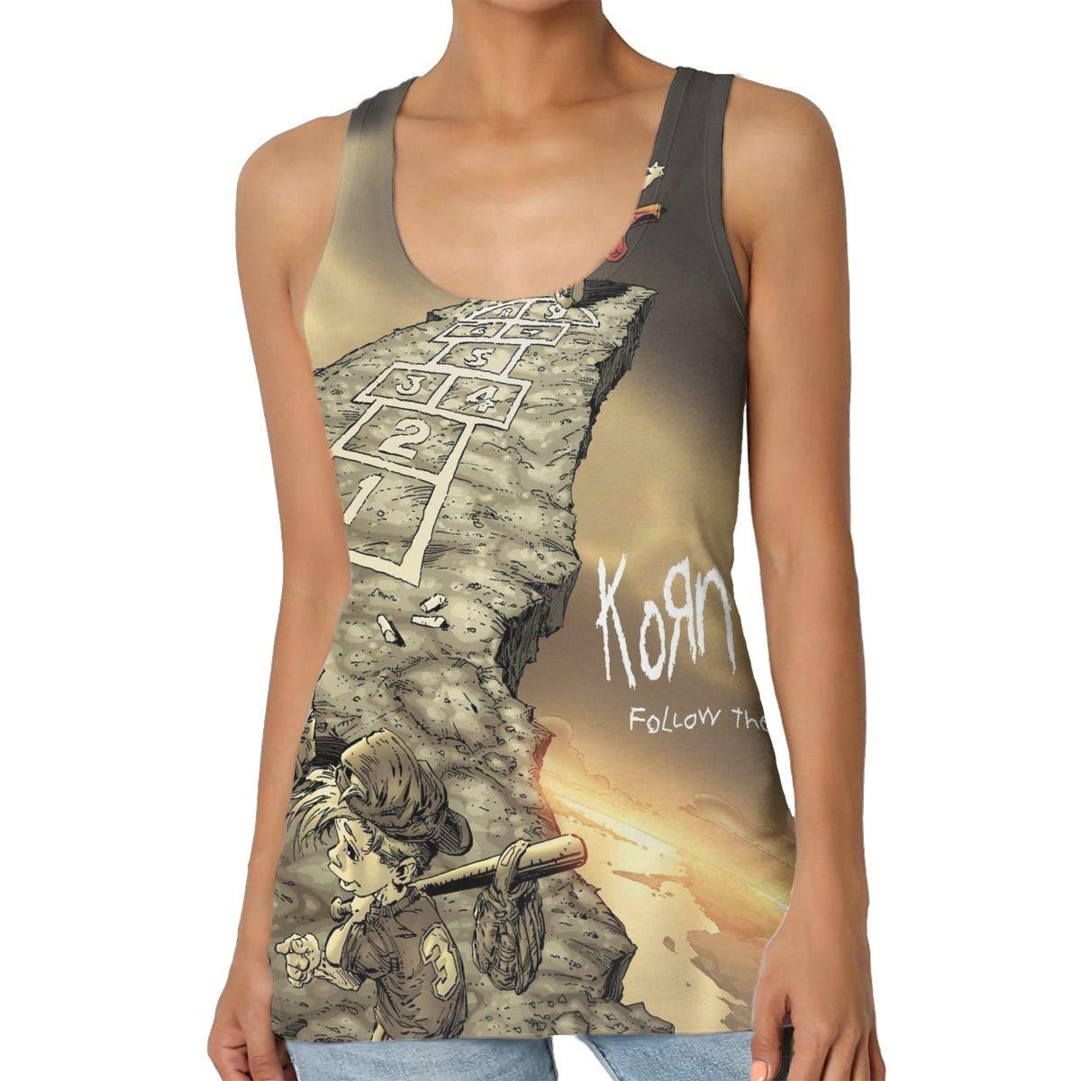 ByronJRivera Korn Follow The Leader Womens Sexy Tank Breathable rnTops Vest T-Shirt
