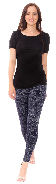 BeLady Leggings Donna Cotone Opaco Casual A Vita Alta Dimagrante Molti Disegni 36,38,40,42,44,46,48,50,52