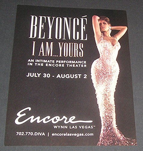 Songwriter Magazine - Wynn Casino 2009 PRINT AD, Las Vegas, Nevada, Beyonce Knowles, I Am Yours Performance, American Singer/Songwriter, Original Magazine Advertisement/Collectible Paper Ephemera