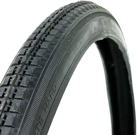 OldNewBikes Juego de Cubiertas Negras (2 Unidades) para Bicicleta clásica, Medidas 26x1,1/2