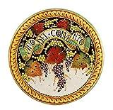 MAJOLICA: Luxury Lg wall plate Vino del Convento (28 D)