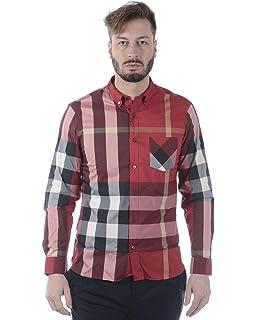 17184f7ad85 BURBERRY Men's Alexander Camel Check Shirt XXL at Amazon Men's ...