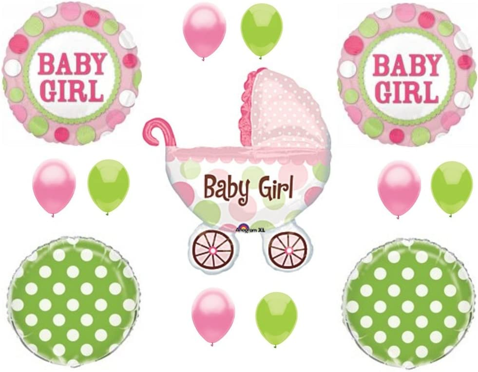 Baby Reveal Baby Buggy Balloons Girl Its a Boy Balloons 40 Its a Girl Balloons Baby Shower Baby Buggy Baby Buggy Balloons