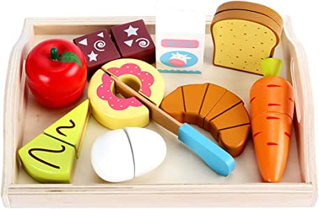 Coxeer Cutting Toy Set Creative Food Play Set Kitchen Playing Set for Children
