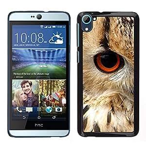 HTC Desire 826 dual Único Patrón Plástico Duro Fundas Cover Cubre Hard Case Cover - Eye Bird Animal Nature Fur Feathers
