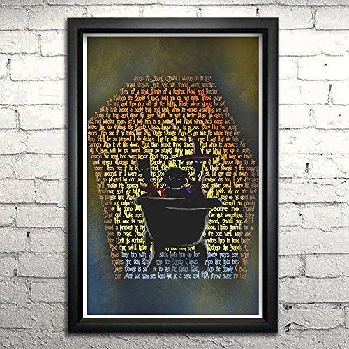 Nightmare Before Christmas Lock Shock and Barrel word art print 11x17
