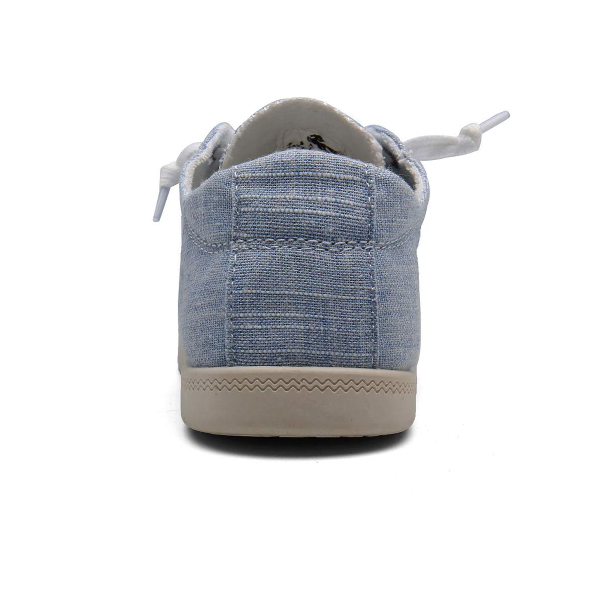 KELYR Women Fashion Sneaker Slip On Shoes Canvas Classic&Comfort Light Blue
