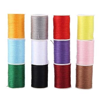 Línea de costura de hilo de coser de hilo de coser de 12 colores ...