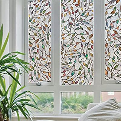 Window Glass Film, Electrostatic Absorption Beautify Decorate Protect Privacy Sunscreen Indoor Glass Film