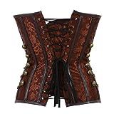 Women's Steampunk Rock Corset Bustier Gothic Waist