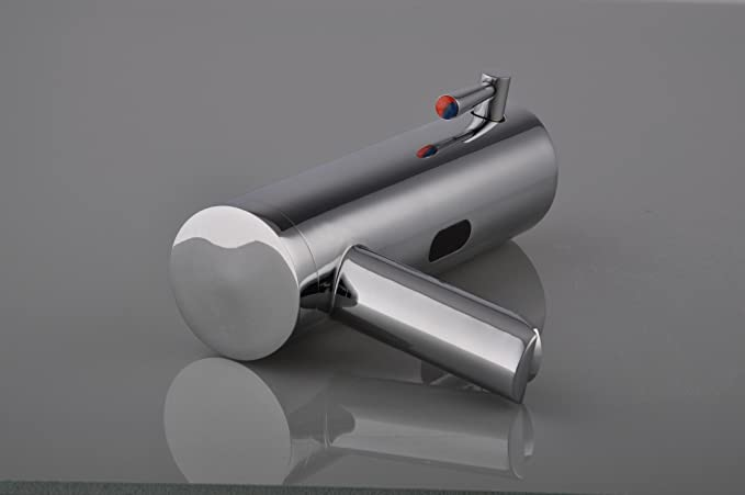 Grifo con sensor automático de movimiento de Gangang, para lavamanos y bañera, con infrarrojos, funciona con pilas, cromado de latón, tipo A: Amazon.es: ...