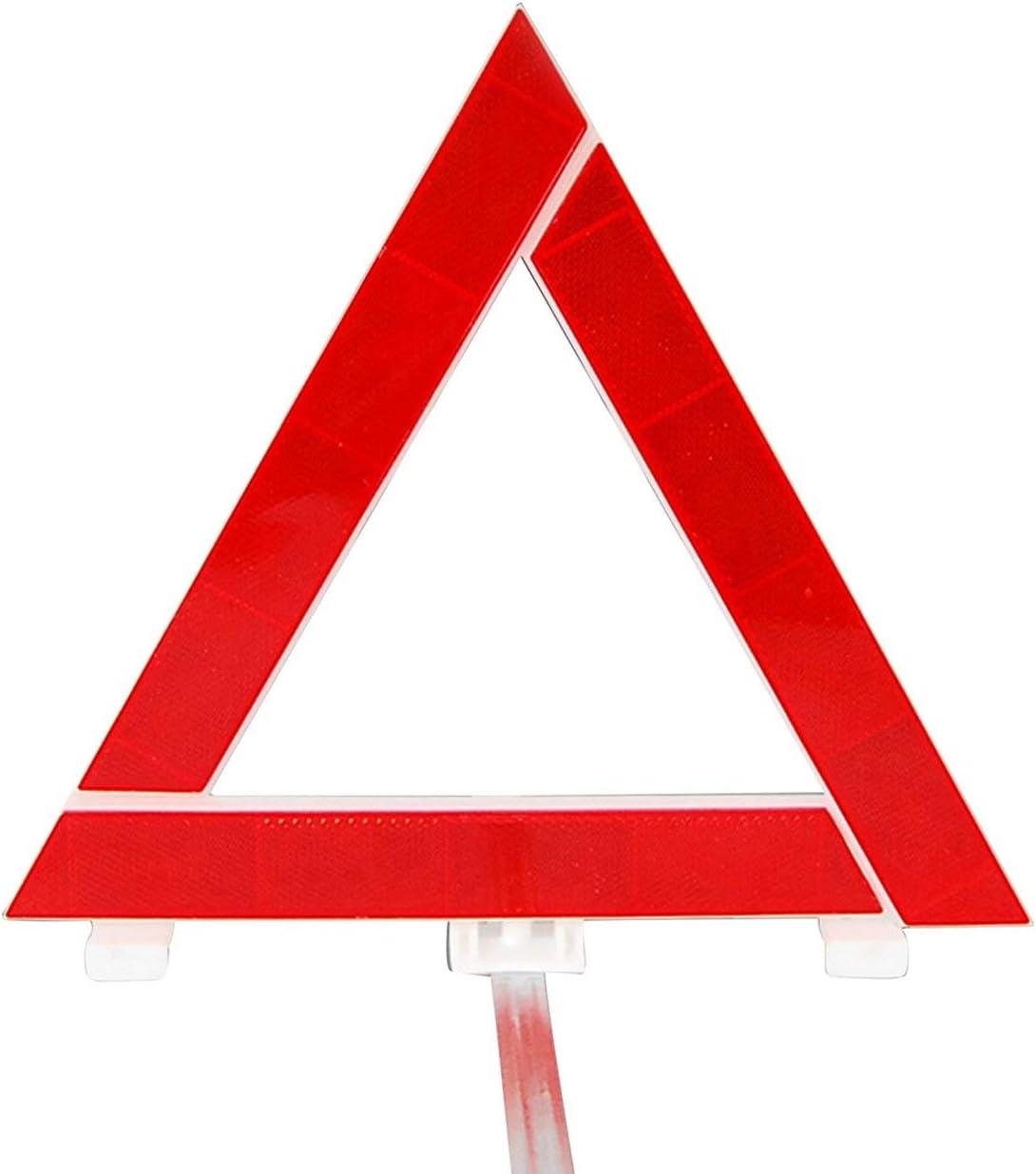Tr/ípode de coche Se/ñal de advertencia reflectante Tr/ípode de coche Tarjeta triangular Aparcamiento Se/ñal de peligro plegable Seguridad del coche Tr/ípode de emergencia Rojo