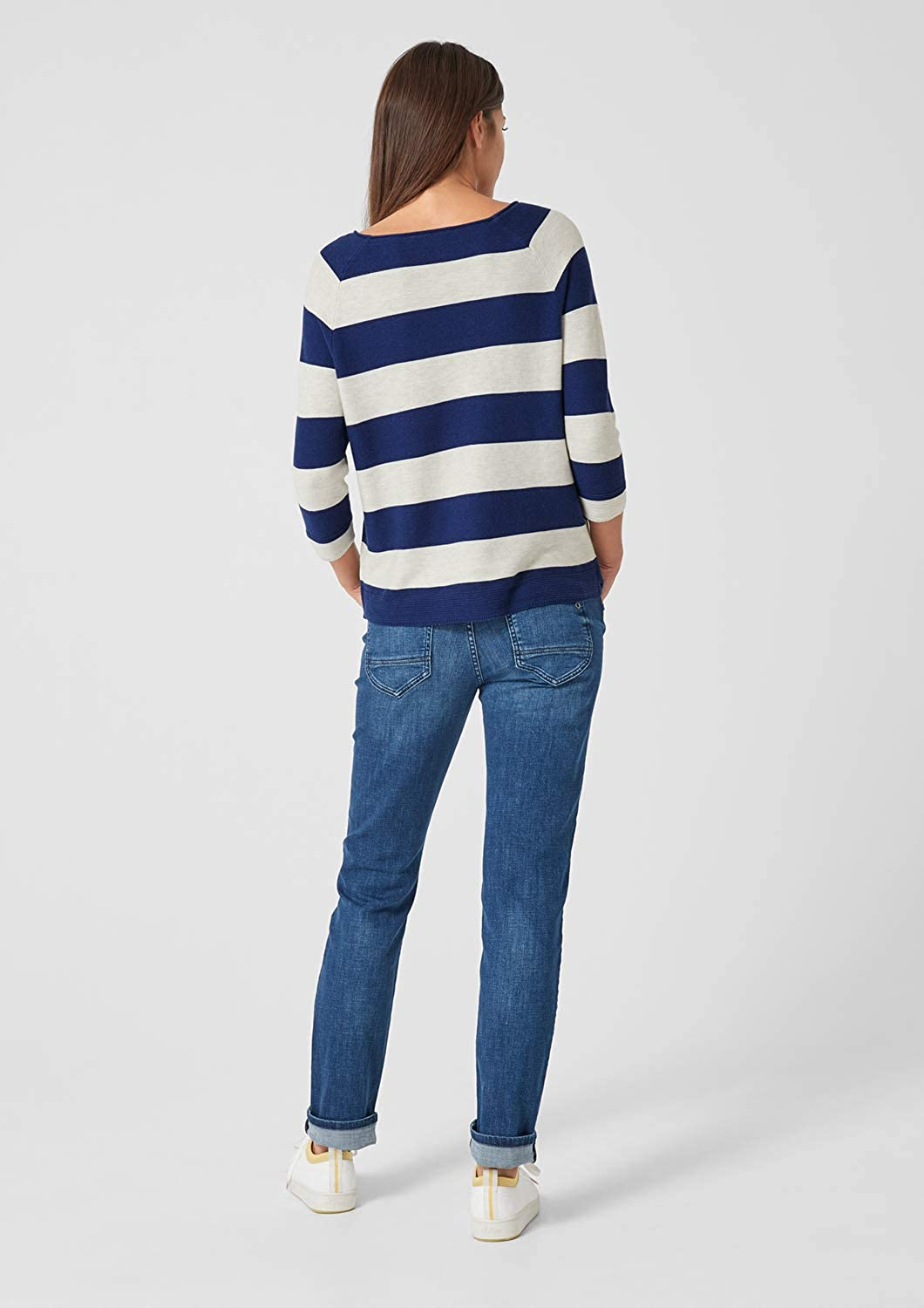 s.Oliver Damen Pullover Blau (Royal Blue Stripes 56g4)